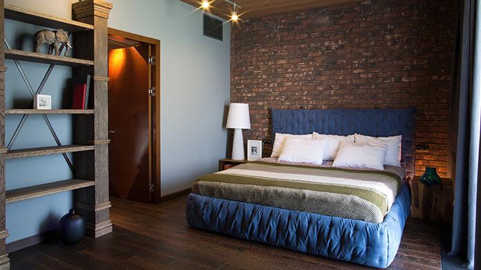Спальня. Дом в стиле лофт в Ростовской области от архитектурной студии Чадо