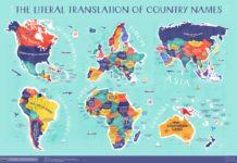 Буквальные названия стран. Карта Мира