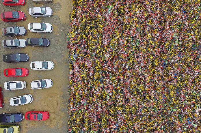 Кладбище велосипедов в Китае