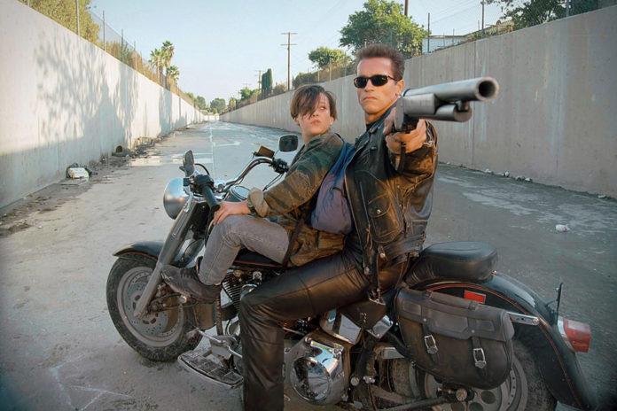 Terminator 2 on Harley Davidson