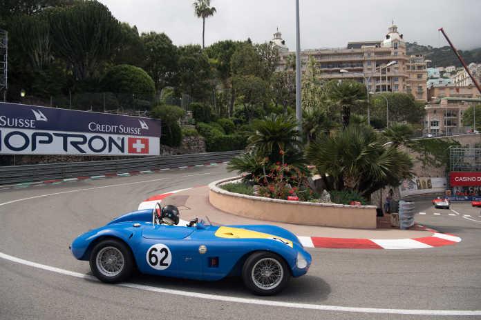 Maserati A6GCS на треке. Исторический Гран-при в Монако 2018