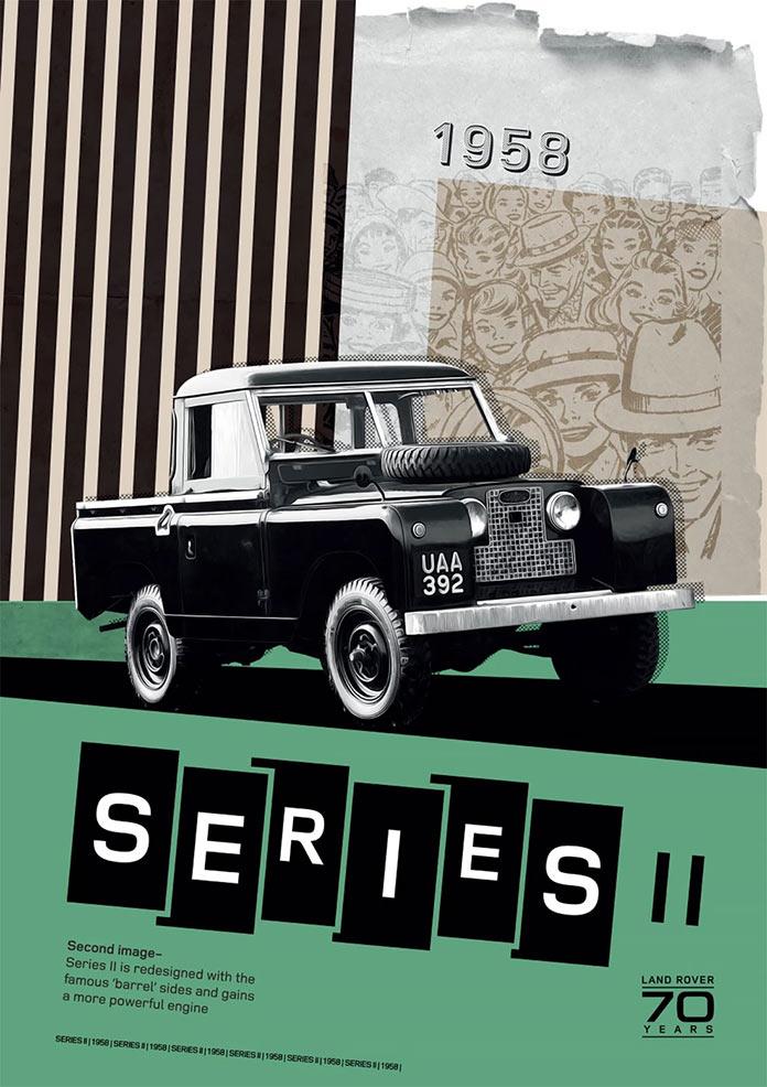 Постеры Land Rover к 70-й годовщине компании