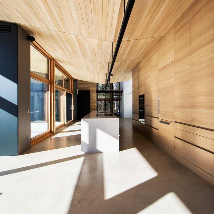 Кухня, стеклянный дом в Канаде
