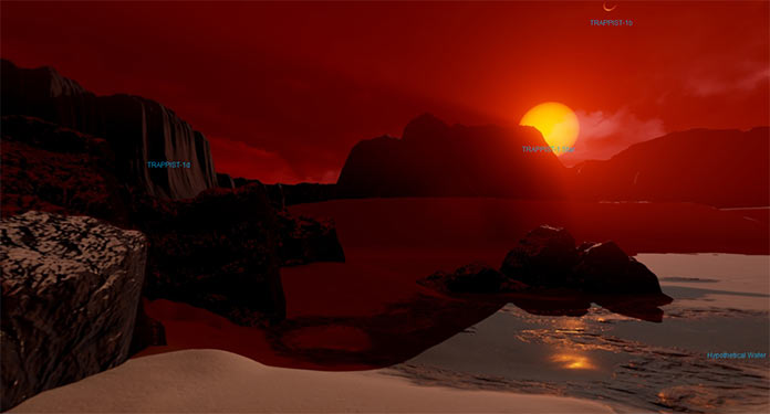 Виртуальный тур NASA на экзопланету TRAPPIST-1d1