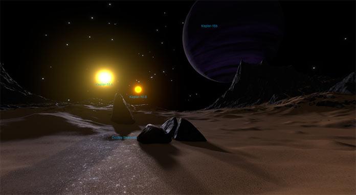 Виртуальный тур NASA на экзопланету Kepler-16b1