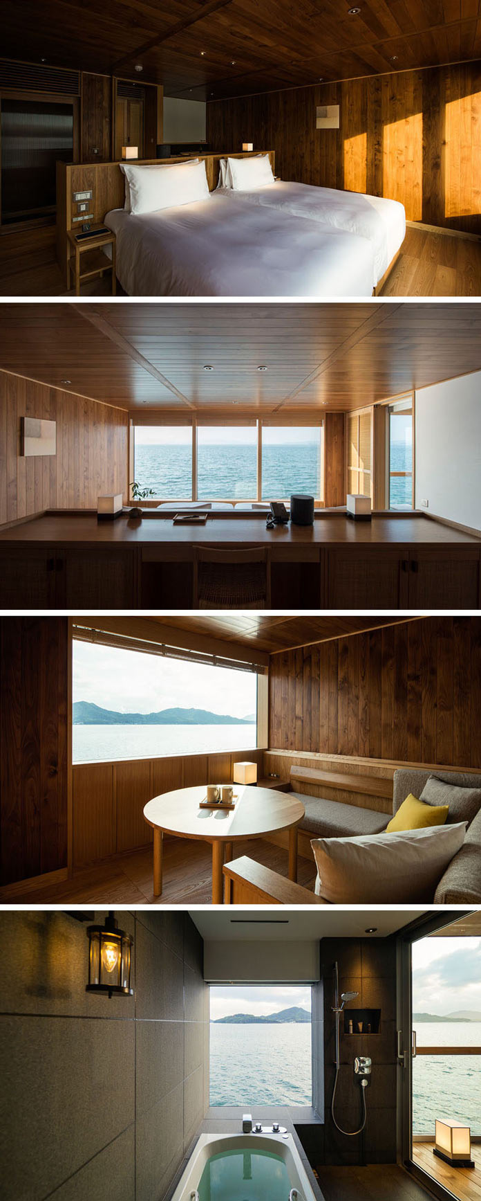 Детали интерьеров. Guntu плавающий отель в Японии