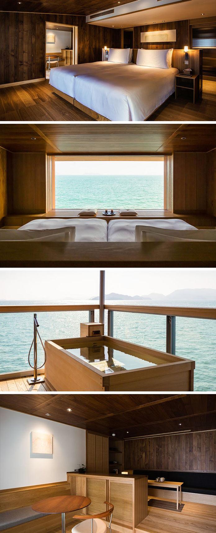 Номера в Guntu - плавающем отеле в Японии