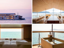 Guntu плавающий отель в Японии
