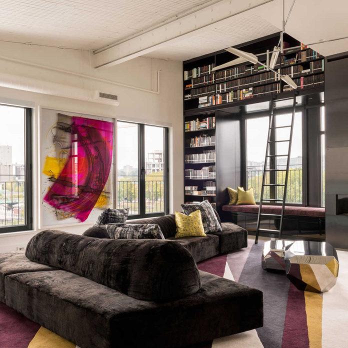 Квартира в стиле лофт в Монреале, фотографии интерьеров