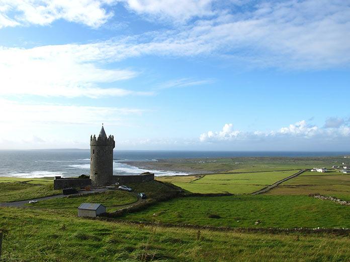 Ирландия, старинный замок, пейзаж