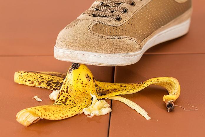 Подскользнулся на банане
