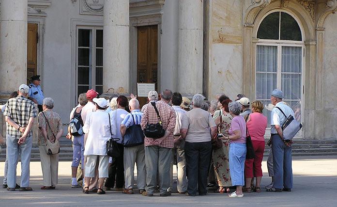 Группа туристов на экскурсии