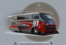 Советский микроавтобус RAF-977 Латвия, обновленный концепт