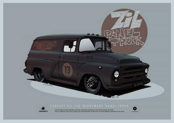 Советский автомобиль ЗИЛ-130, обновленный концепт