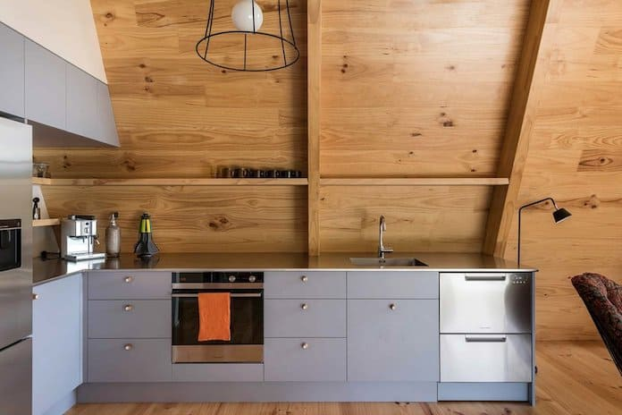 Кухня. Загородный дом в Новой Зеландии