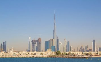 Дубай, ОАЭ, скайлайн Дубая