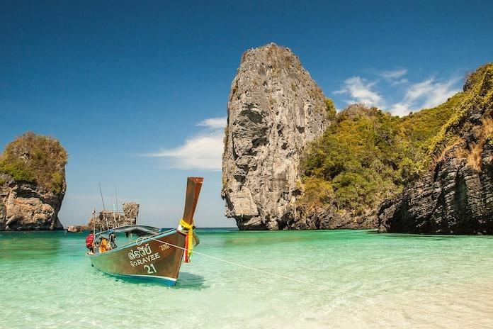 Таиланд, Краби, лодка, пляж, тайская лодка