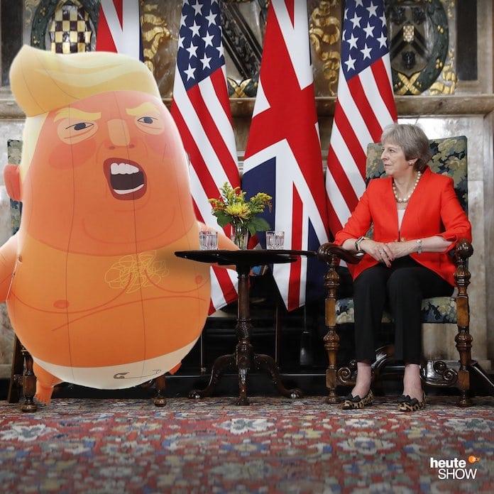 Бэби-Трамп на саммите в Великобритании