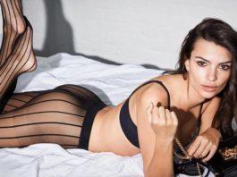 Эмили Ратайковски в новой осенней коллекции нижнего белья DKNY