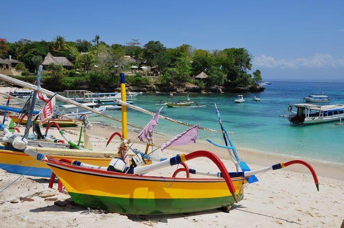 Бали, пляж, лодки