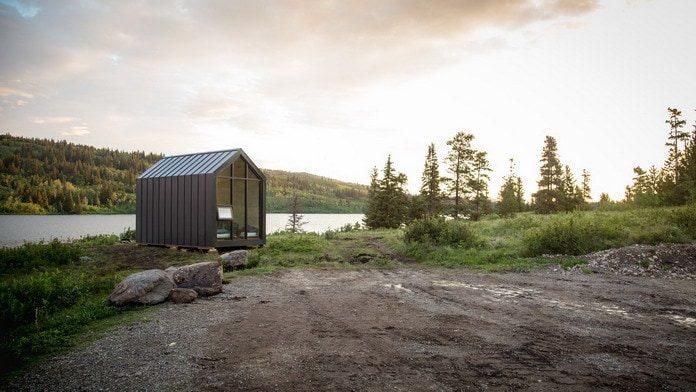 Мини дом The Mono от Drop Structures на берегу озера