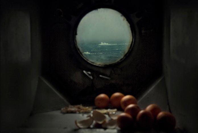 Вид на Баренцево море из иллюминатора «Михаила Сомова»