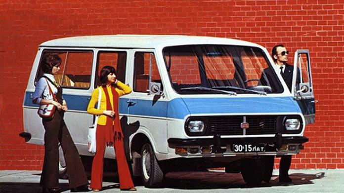 RAF, микроавтобус. Реклама советских автомобилей