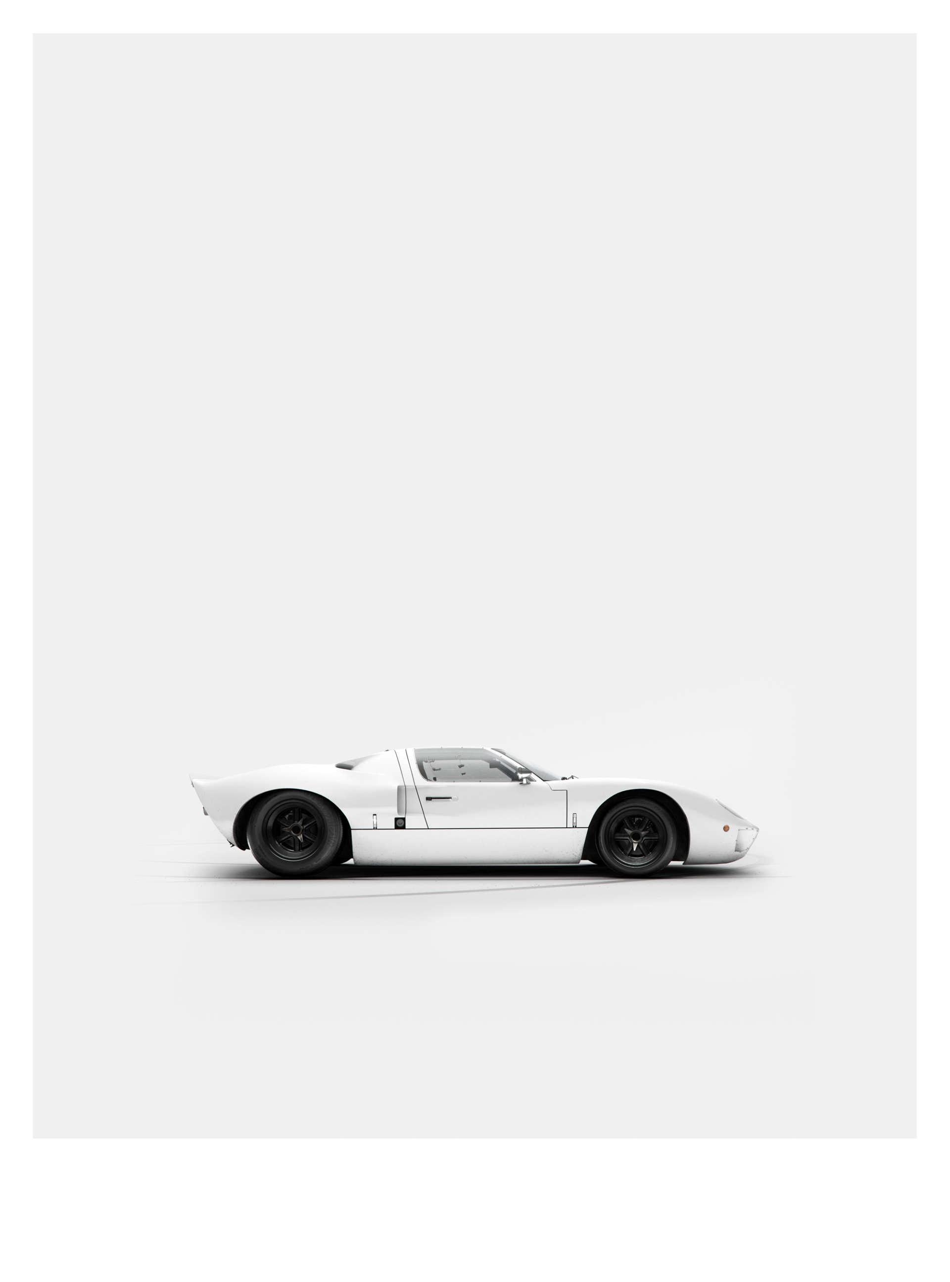 Ford GT40, минималистичный принт от We Are Ink