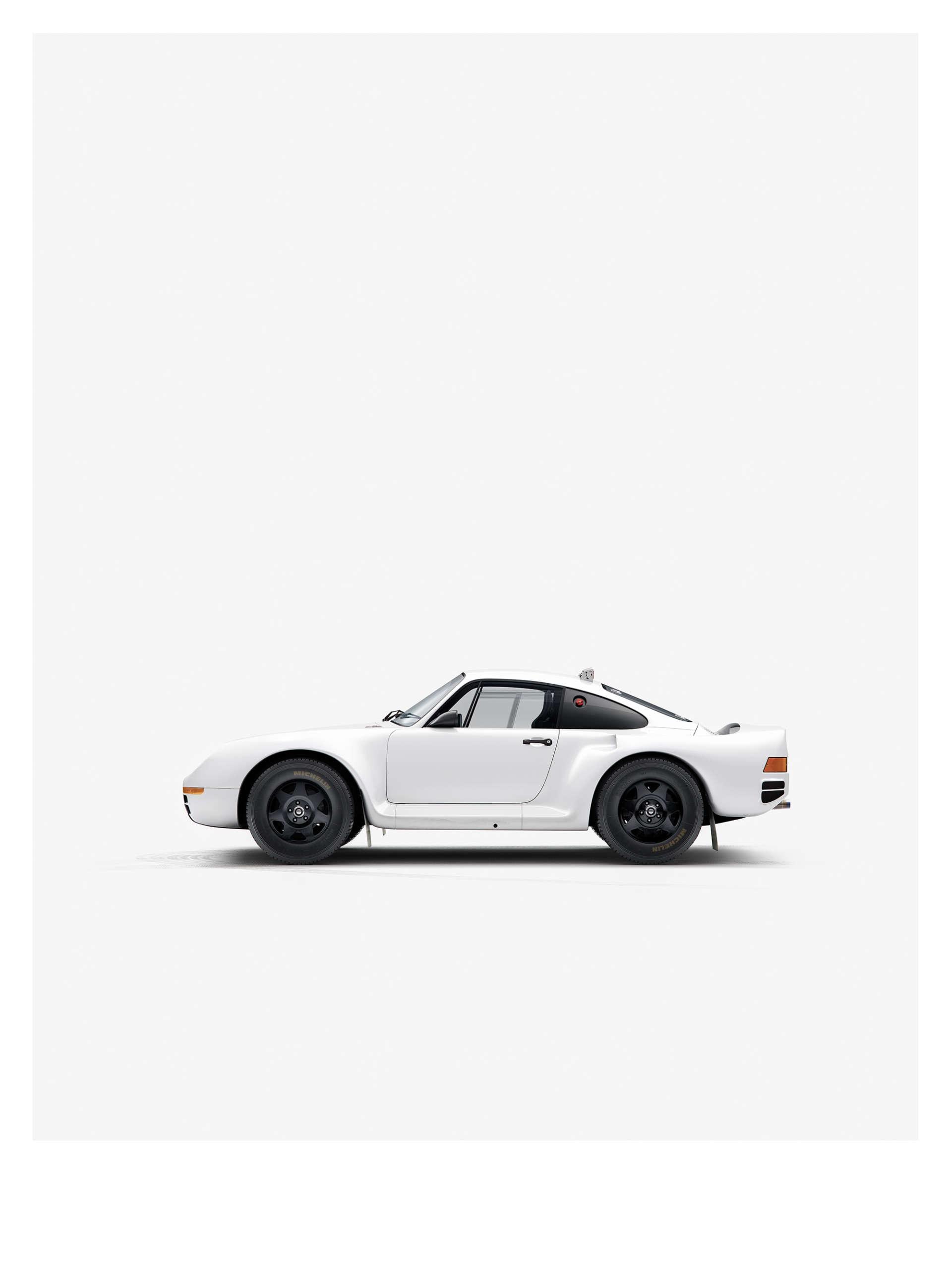 Porsche 959, минималистичный принт от We Are Ink