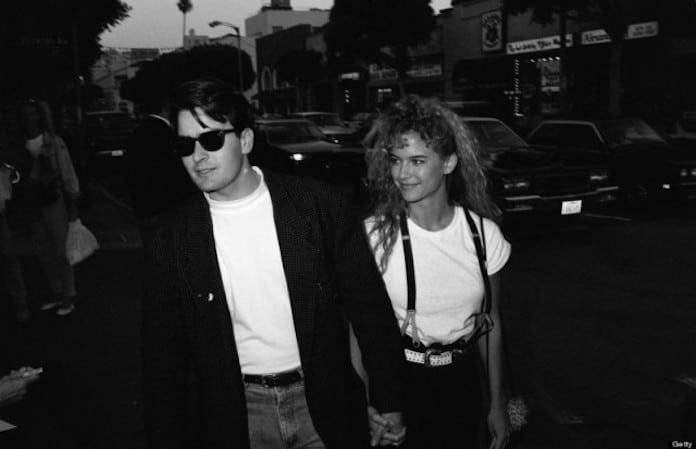 Чарли Шин и Келли Престон, молодые кинозвезды, редкие фото