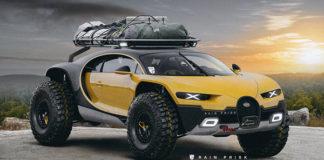 Bugatti Chiron концепт внедорожника от Рэйна Приска