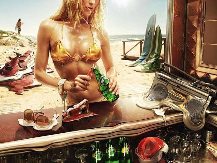 Вода Perrier, жаркий постер