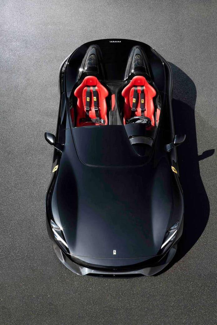 Ferrari Monza SP2, вид сверху