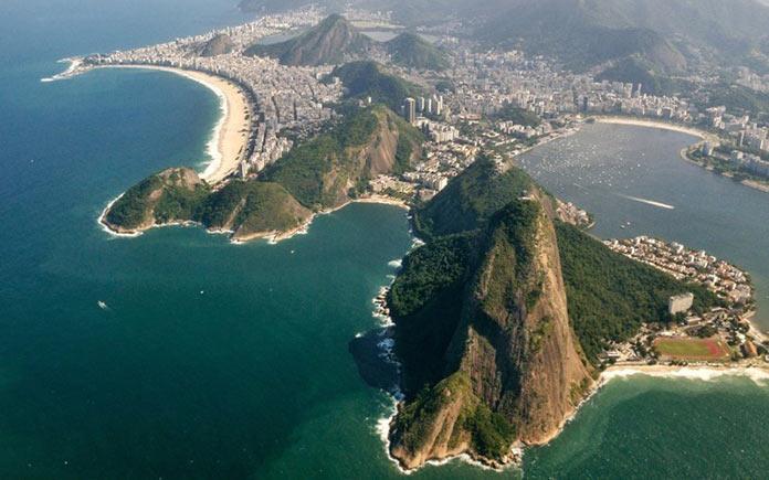 Рио-де-Жанейро, Копакабана. Авиарейсы с самыми живописными видами из окна
