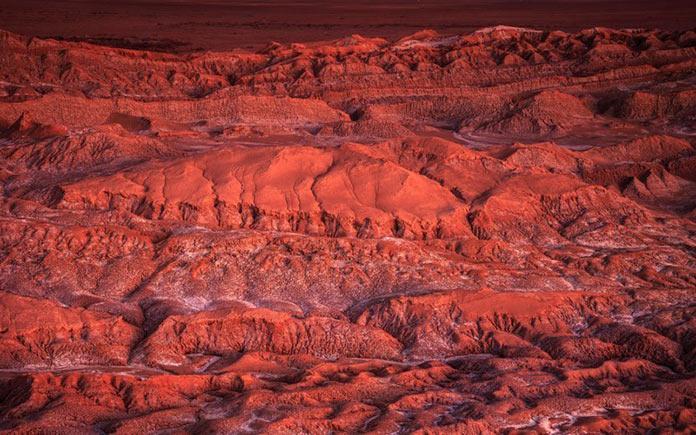 Красная пустыня в Южной Америке. Авиарейсы с самыми живописными видами из окна