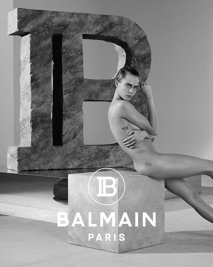 Кара Делевинь для бренда Balmain
