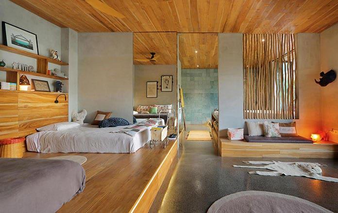 Спальня. Вилла «Хамелеон» на Бали